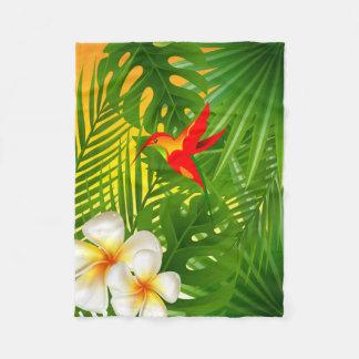 Luz do sol tropical com um colibri cobertor de velo