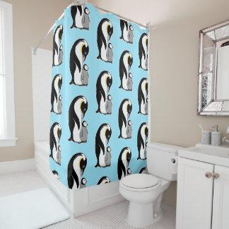 Luz do teste padrão dos pinguins - cortina de chá cortina para chuveiro