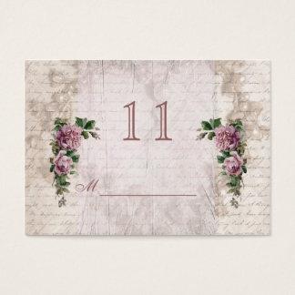 Luz do vintage - os rosas cor-de-rosa apresentam o cartão de visitas
