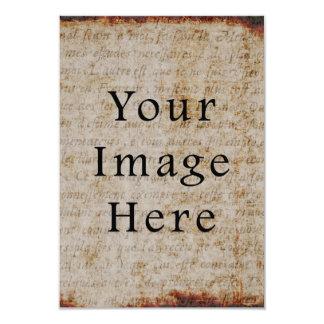 Luz do vintage - papel de pergaminho marrom do convite personalizados