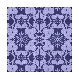 Luz dos azuis marinhos - arte moderna azul da impressão de canvas esticada