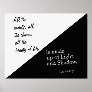 Luz e sombra - Léon Tolstói - impressão da arte