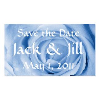 Luz - economias do rosa do azul a data cartão de visita