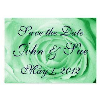 Luz - economias do rosa verde a data cartão de visita grande