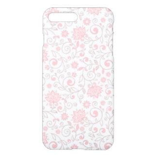 Luz elegante - teste padrão floral cor-de-rosa capa iPhone 7 plus
