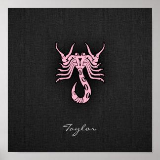 Luz - Escorpião cor-de-rosa Posteres