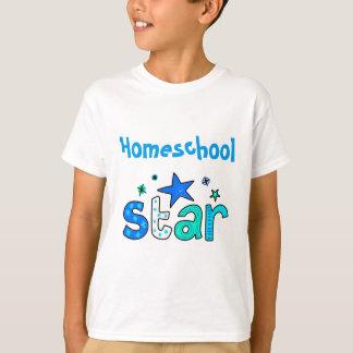 Luz - estrela azul de Homeschool Camiseta