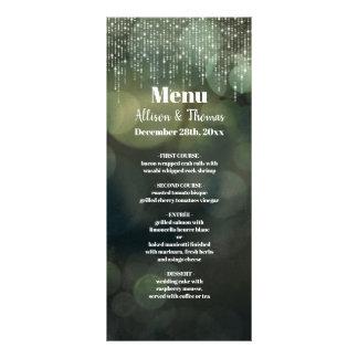 Luz feericamente branca elegante Glam - menu verde
