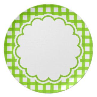 Luz - flor verde pratos