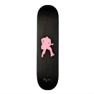 Luz - guitarrista cor-de-rosa shape de skate 18,4cm