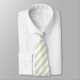 Luz - laço listrado do verde/o branco gravata