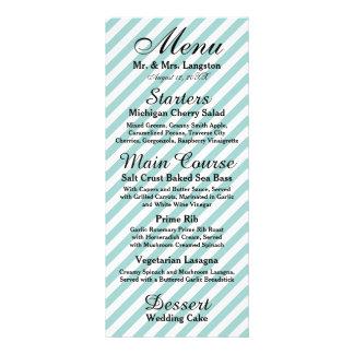 Luz - listrado branco azul - menu da recepção 10.16 x 22.86cm panfleto