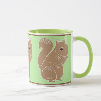 Luz - luz marrom do esquilo - caneca verde