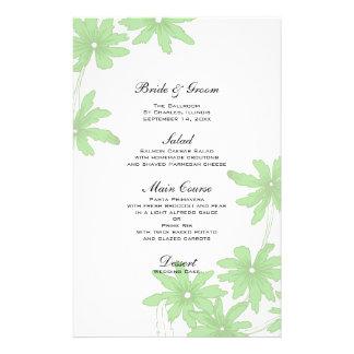 Luz - margaridas verdes que Wedding o menu Papelaria