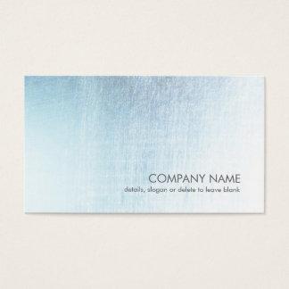 Luz moderna - cartão de visita escovado azul do