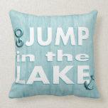 """Luz - o azul """"vai salto travesseiro decorativo no"""
