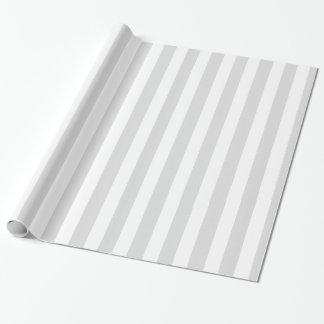Luz - o branco cinzento XL listra o teste padrão Papel De Presente