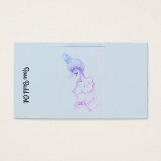 luz padrão do cartão de visita - azul