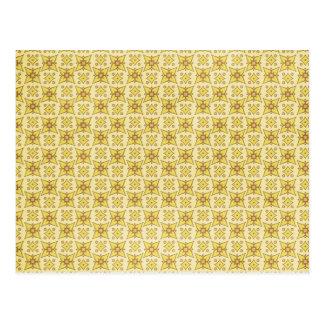 LUZ pattern75 - o AMARELO MODELA BACKGRO Cartão Postal