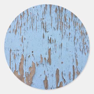 Luz - pintura azul da casca adesivos em formato redondos