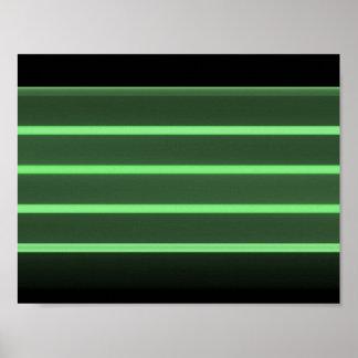 luz preta - papel de poster verde do valor (Matte)