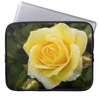Luz - rosa amarelo com a bolsa de laptop dos capa para notebook