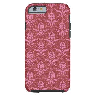 Luz - rosa na cor damasco cor-de-rosa escura capa tough para iPhone 6