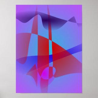 Luz - roxo e vermelho impressão