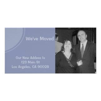 Luz simples - Weve azul moveu o anúncio Cartões Com Foto
