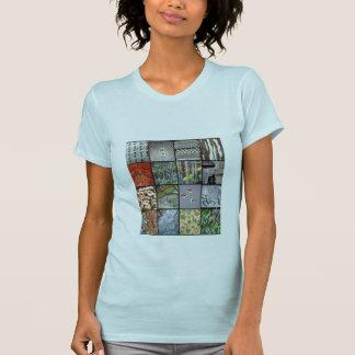 Luz - T azul com design das texturas de Japão Tshirt