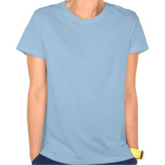 Luz - t-shirt do Gigaben das mulheres azuis