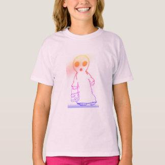 luz tagless do t-shirt das meninas - rosa camiseta