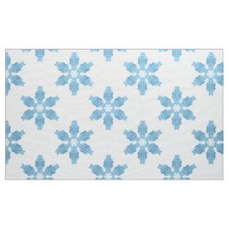 Luz - tecido realístico azul dos flocos de neve