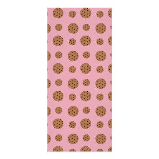 Luz - teste padrão cor-de-rosa dos biscoitos dos 10.16 x 22.86cm panfleto