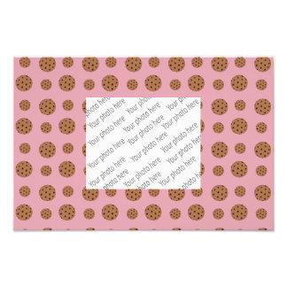 Luz - teste padrão cor-de-rosa dos biscoitos dos impressão de foto