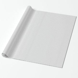 Luz - teste padrão de bolinhas do branco cinzento papel de presente