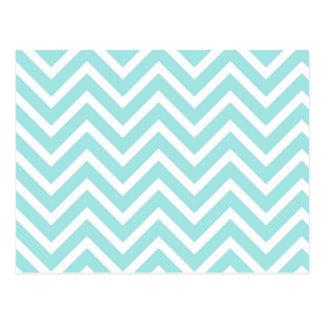 Luz - teste padrão de ziguezague azul cartão postal