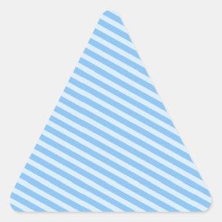 Luz - teste padrão listrado azul adesivos triângulo