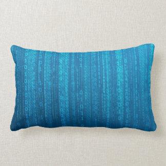 Luz - travesseiro lombar do poliéster azul da almofada lombar