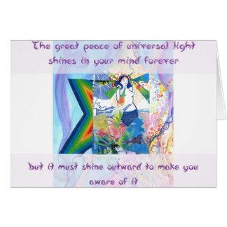 Luz universal cartão comemorativo