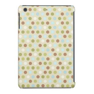 Luz - verde, azul-céu, Brown, Tan, bolinhas Capa Para iPad Mini Retina