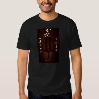 Luzes 2014 felizes de Bokeh T-shirt