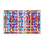 Luzes abstratas impressão de canvas envolvidas