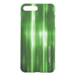 luzes brilhantes abstratas verdes personalizadas capa iPhone 7 plus
