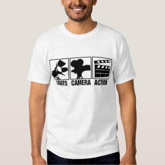 Luzes, câmera, ação tshirts