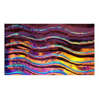 Luzes coloridas atrás do vidro ondulado cartão de visita