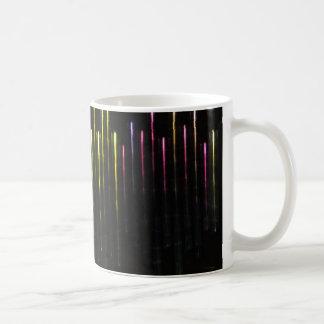 Luzes coloridas caneca de café