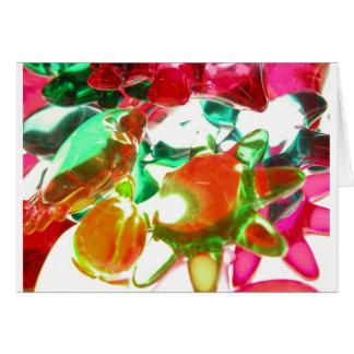 Luzes coloridas cartão comemorativo