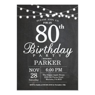 luzes da corda do quadro do convite do aniversário