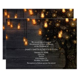 Luzes da corda do vintage & convites do casamento
